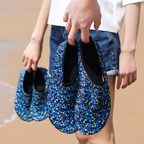 Z.suo Uomini Donne Bambini E Bambino Scarpe Da Ginnastica Ad Asciugatura Rapida Calze Aqua Leggere Per Beach Swim Surf Yoga Exercise Blue.1
