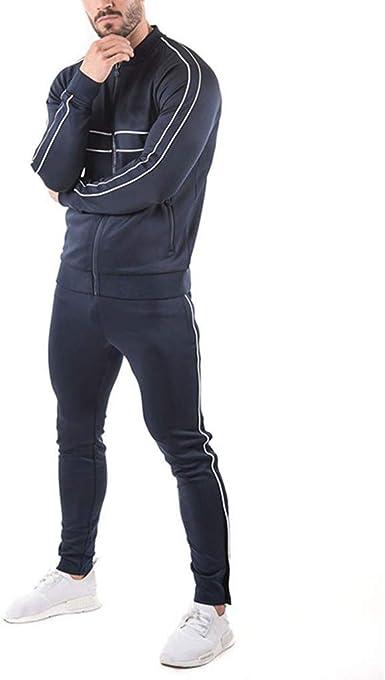 Tefamore Chandal Hombre Completo Traje De Sudadera con Capucha Y Cremallera De Color SóLido Estilo Europeo Y Americano para Hombre: Amazon.es: Ropa y accesorios