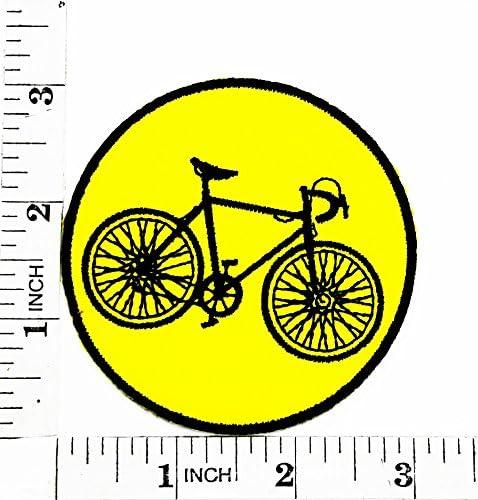 Parche para bicicleta de montaña, de color amarillo, bordado a ...