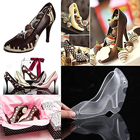 bb7c38d74605f Shoe Mold - 1 Piece Fondant Shoe Chocolate Mold High-Heeled Mold ...