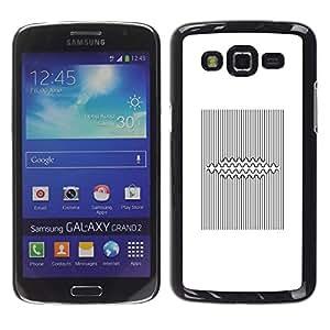 TopCaseStore / la caja del caucho duro de la cubierta de protección de la piel - Pattern Lines Black White Viking - Samsung Galaxy Grand 2 SM-G7102 SM-G7105