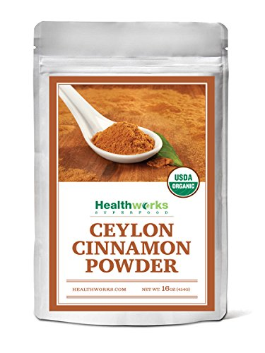 Healthworks Ceylon Cinnamon Powder Raw Organic 1lb packaging may vary
