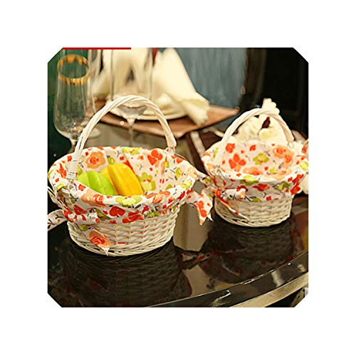 Small Large Wicker Storage Baskets Organizer for Fruits Eggs Vintage Wicker Picnic Basket for Outgoing Decorative Wicker Baskets,Large Size (Crossword Wicker Basket Clue)