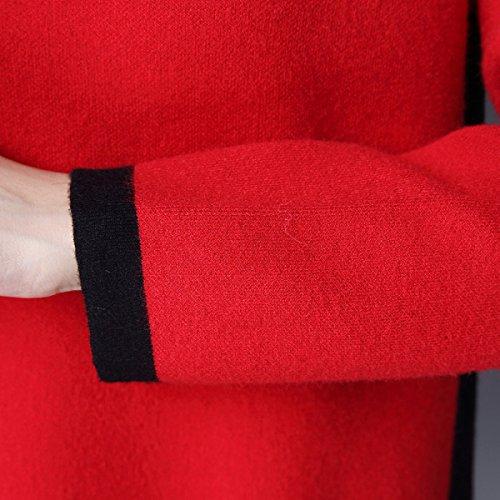 Divide Divide Il Maglione A A A Che Lungo Sexy Stirata Maglia Maglia Della Di TurtleNeck Multicolor Donne Vestito Grey Delle Del Caldo OxF6w6Zq