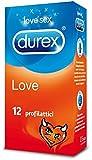 Durex Love (12 pièces) condoms lubrifiés confort mince