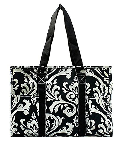- N Gil All Purpose Organizer Medium Utility Tote Bag 2 (Damask Black)