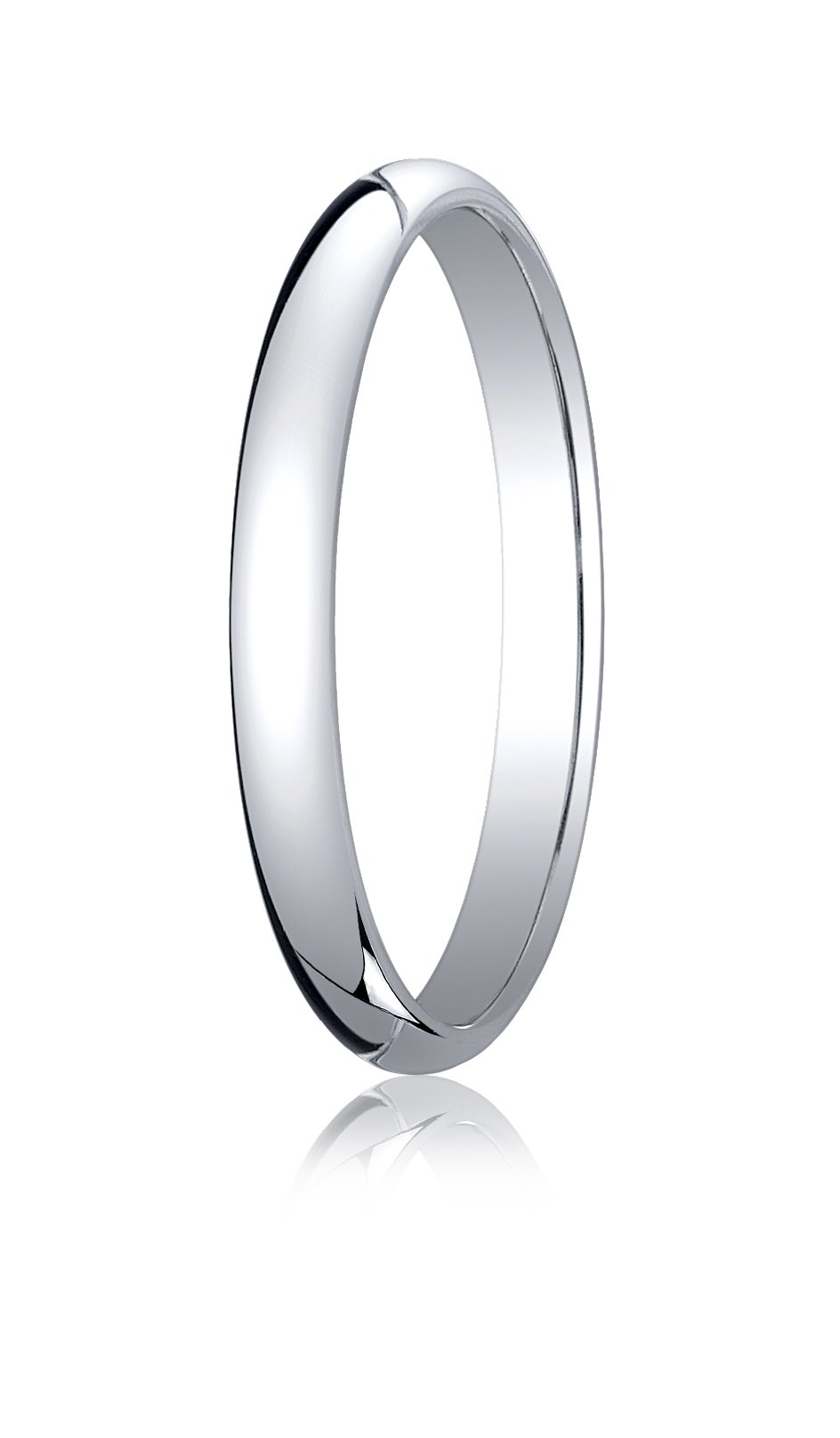 Mens Platinum, 2.5mm Traditional Dome Oval Ring (sz 11)