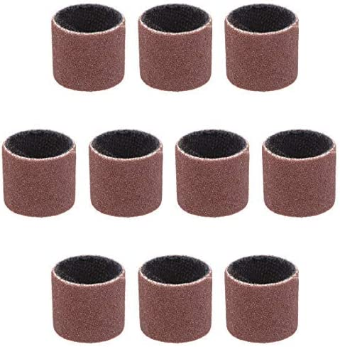 1/2 inch x 1/2 inch Sanding sleeves 240 grains Sandpaper Belt drums 10 pieces