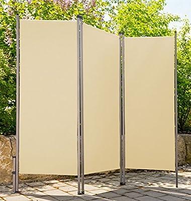 Biombo Outdoor metal/plástico crema beige divisorio Privacidad Wind Protección Sol 170 x 170 cm: Amazon.es: Jardín