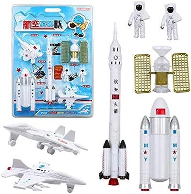 Vintage US Space Exploration Plastic Toys Astronauts Toy Figure Rocket USA Flag