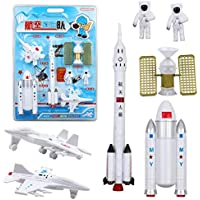 Space exploration rocket space shuttle universe satellite set toy simulation early education puzzle aviation model