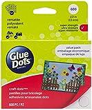 Glue Dots Craft Glue Dot Value Pack, 1/2 Inch, Clear, Pack of 600