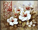 Colour Talk Diy oil painting, paint by number kit- Pure flowers 1620 inch.