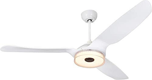 TRIFECT 60-Inch Smart Ceiling Fan Low Profile for Outdoor Indoor, Compatible with Alexa, Google Home, Siri, 10-speed DC motor, Remote Control with Dimmable LED Light, UL Certified