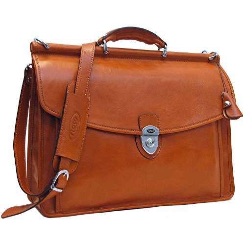 Floto Italian Leather Messenger Bag Briefcase - 9