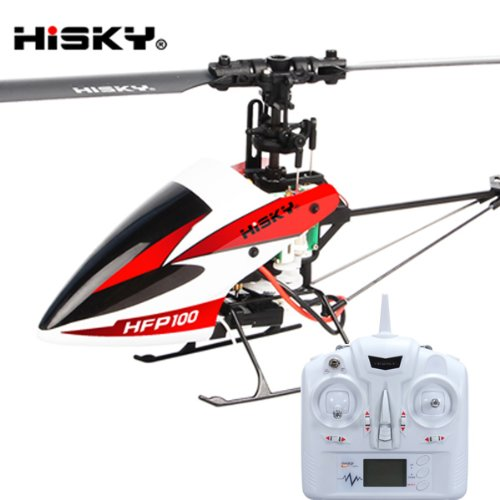 Flybarless Helicopter - Hisky HFP100 FBL90 4CH Flybarless 3 Axis Gyro RC Helicopter H-4Q RTF
