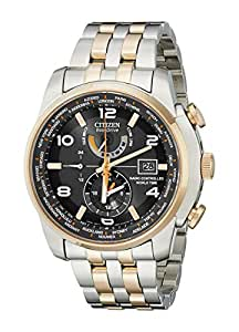 "Citizen Men's AT9016-56H ""World Time A-T"" Stainless Steel Two-Tone Eco-Drive Watch"