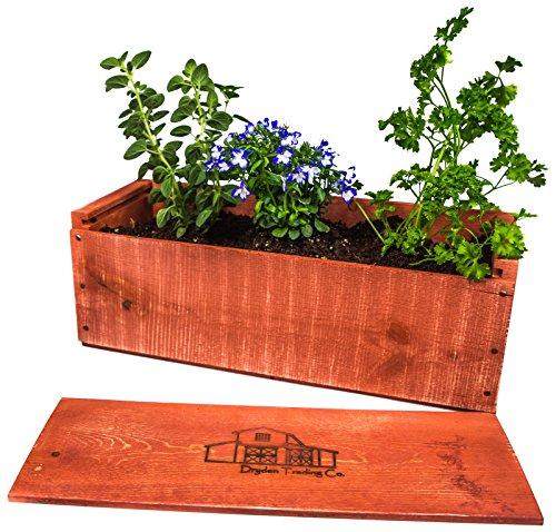 Wooden Window Garden Planter Box Kit 17x 6 x 6 Garden