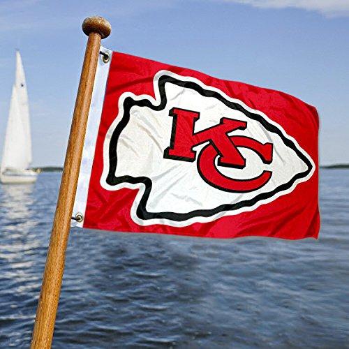 (WinCraft Kansas City Chiefs Boat and Golf Cart Flag)