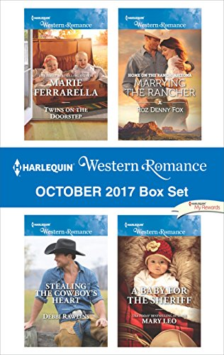 Harlequin Western Romance October 2017 Box Set: Twins on the Doorstep\Stealing the Cowboy's Heart\Marrying the Rancher\A Baby for the - Roz Box
