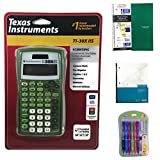 Green Texas Instrument TI-30XIIS Scientific Calculator Bundled with 1 Green One Subject Notebook, 1 Dual Grid Graph Paper Notebook and 1 Pack of Mechanical Pencils. Perfect for Math or Science Class.