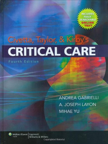 Civetta, Taylor and Kirby's Critical Care (Civetta Taylor and Kirbys Critical Care) Pdf