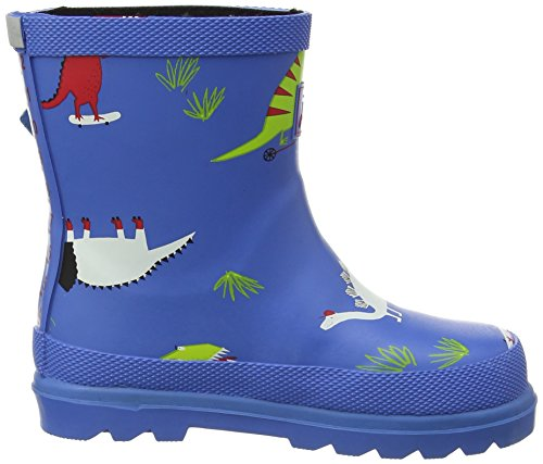 JoulesBaby Boys Welly - patucos para niño Blue (Blue Skatersaurus)
