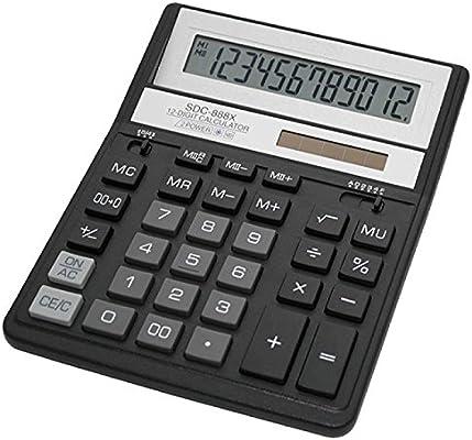 Citizen SDC-888XBK - Calculadora: Amazon.es: Oficina y papelería