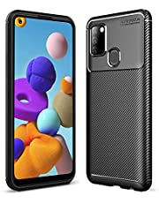 HEYUS for Samsung Galaxy A21s Case, Protective Carbon Fiber Case Cover Compatible with Samsung Galaxy A21s Lightweight Ultra Thin Slim