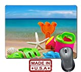 "Liili Natural Rubber Mouse Pad/Mat with Stitched Edges 9.8"" x 7.9"" toys for childrens sandboxes against the sea and the beach 28412835"