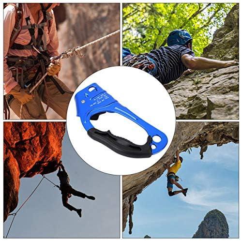 SOONHUA Descenso de Escalada Ascendente Derecho Árbol de Escalada en Roca Arbolista Equipo de Equipo de Rappel Abrazadera de Cuerda para Cuerda de ...