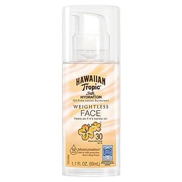 Amazon.com  Hawaiian Tropic Silk Hydration Weightless Sunscreen Lotion SPF  30 78cf9a46f9e5
