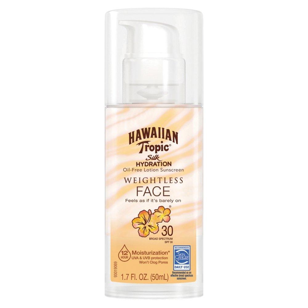 Hawaiian Tropic Silk Hydration Weightless Sunscreen Lotion SPF 30, 1.7 Ounce