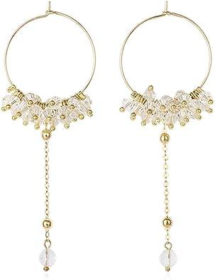 Boucles D/'oreilles Pompon Bijoux De Mode Femmes Longue Boucle D/'oreille Vintage