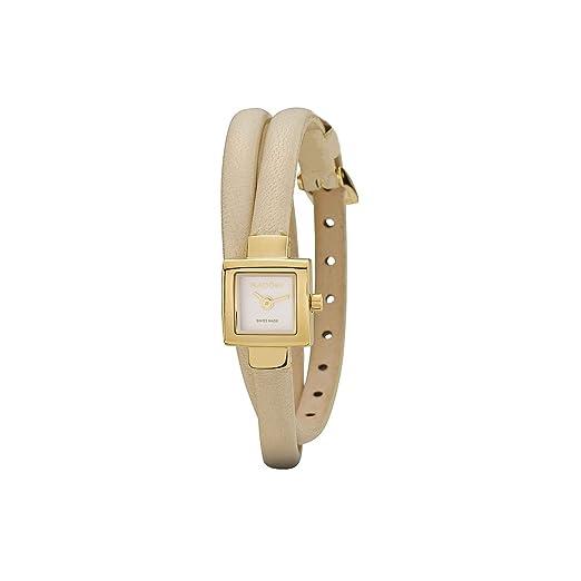 Pandora 812028WH - Reloj analógico de mujer de cuarzo con correa de piel beige: Amazon.es: Relojes