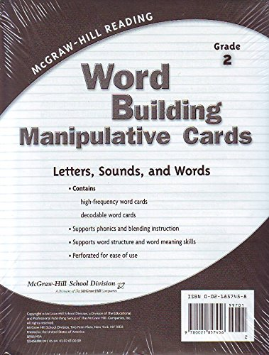 Read Online Word Building Manipulative Cards Grade 2 (McGraw-Hill Reading) ebook