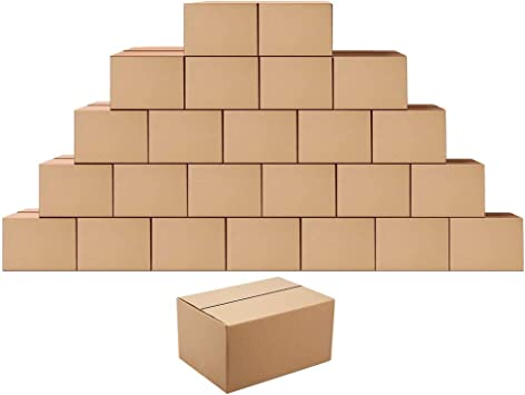 Amazon.com: Shipping Boxes Mailers 8x6x4 inches Corrugated ...