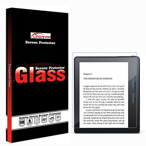 Kindle Oasis 2017 Glass Screen Protector ,LFOTPP 9H Hardness Tempered Glass Screen Protector for Kindle Oasis 2.5D Rounded Edge HD Anti Scratch High Clarity