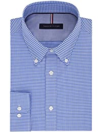 Men's Non Iron Slim Fit Gingham Buttondown Collar Dress...