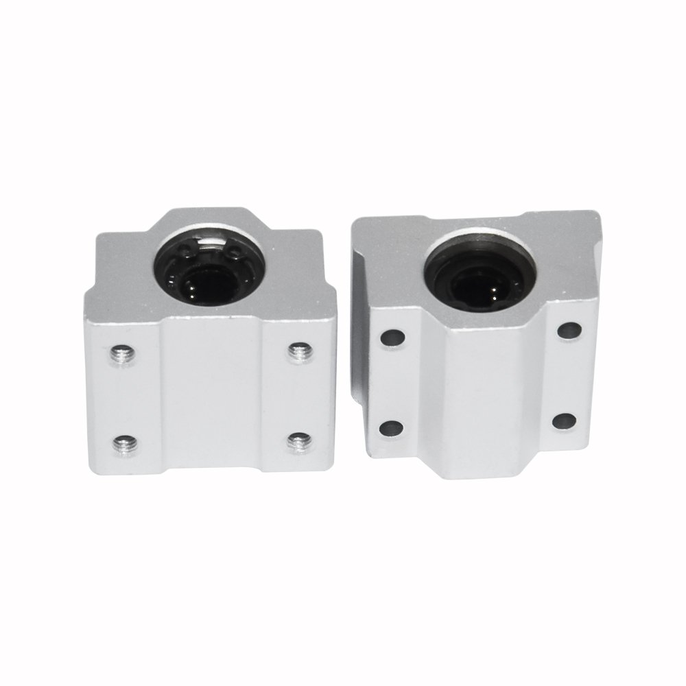 Metal Linear Ball Bearing Pellow Block Unit FOR CNC SC25UU 25mm 2 PCS SCS25UU