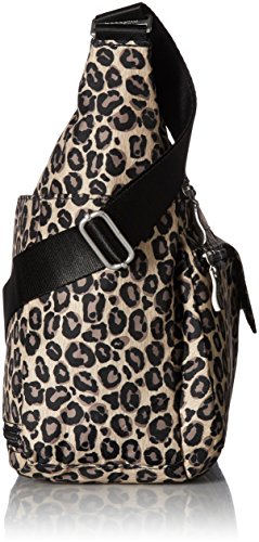 Baggallini Resistant Multi Lightweight Water Crossbody Purse Leopard Pocketed RFID Spacious Wristlet Travel Everywhere Bag with ZFqrZB