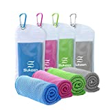 "[4 Pack] Cooling Towel (40""x12""), Ice Towel, Soft Breathable Chilly Towel, Microfiber Towel for Yoga, Sport, Running, Gym, Workout,Camping, Fitness, Workout & More Activities - Kuen"