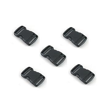 Hebilla de la mochila Plástico Mochila Cierre Rápido Hebilla 38mm Ancho Negro 5 PCS: Amazon.es: Deportes y aire libre