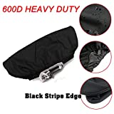 Winch Cover,Waterproof Soft Winch Dust Cover Driver Recovery 8,500 to 17,500 Pound Capacity ( (Black Stripe Edge)