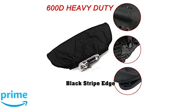 Winch Cover,Waterproof Soft Winch Dust Cover Driver Recovery 8,500 to 17,500 Pound Capacity Red Stripe Edge