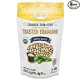 Eda-Zen Organic Toasted Edamame Snacks, Lightly Salted, 3.5 Ounce (Pack of 6)