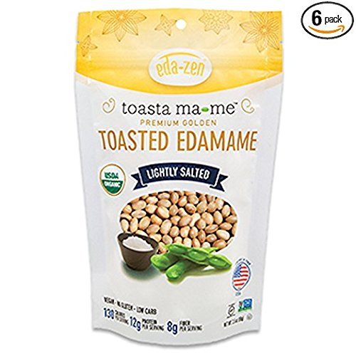 Eda-Zen Organic Toasted Edamame Snacks, Lightly Salted, 3.5 Ounce (Pack of 6)