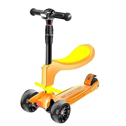 Patinete- Scooter para niños Puede Sentarse 4 Rondas 2-12 ...