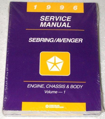 1996 Chrysler Sebring, Dodge Avenger Service Manuals (2 Volume ()