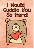 "2197 'Cuddle You So Hard' - Funny Valentine's Day Greeting Card with 5"" x 7"" Envelope by NobleWorks"